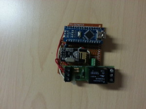PCB collagamento relay mysensors