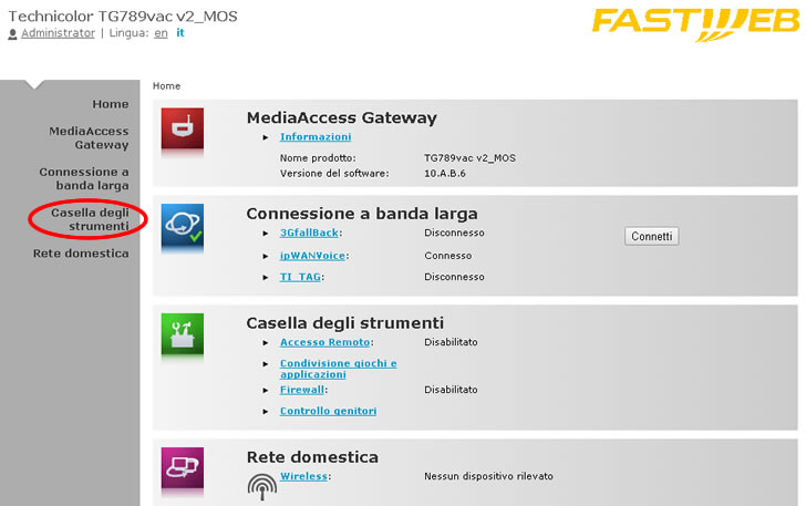 Port Forward Fastweb per Foscam